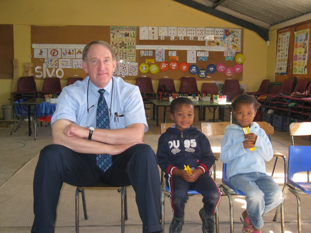 Philip May, Ph.D., and two study participants in the Western Cape Province of South Africa