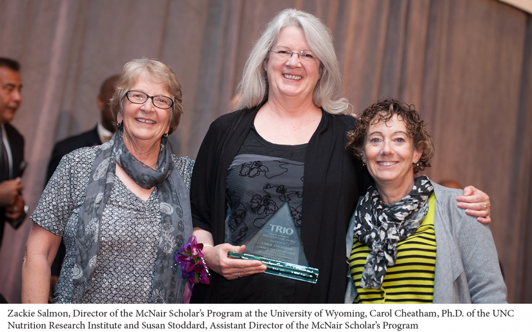 Carol L. Cheatham, Ph.D. presented with National TRIO Achiever's Award