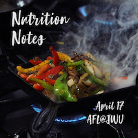AFL@JWU Nutrition Notes – April 17, 2019